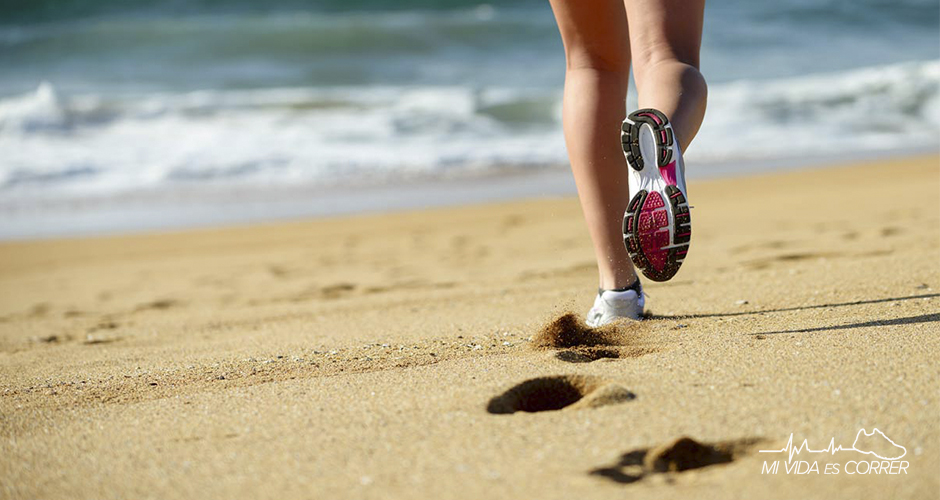 correr en la playa tips