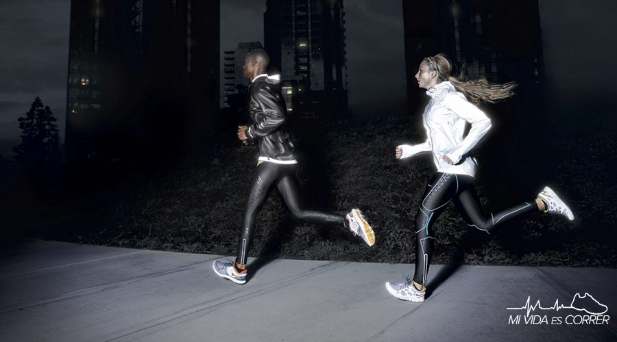 ropa para correr de noche reflejante