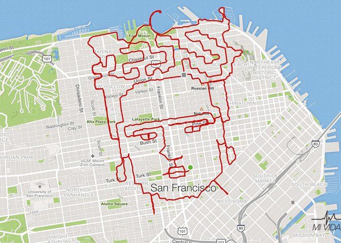 Así son las artísticas rutas de running de Lenny Maughanun